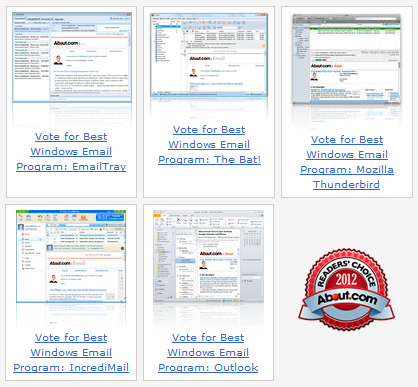 About.com Readers Awards: Best email client for Windows 2012