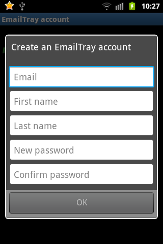 Create an EmailTray account